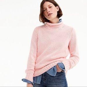 J Crew Always Blush Pink Roll Neck Sweater 1988